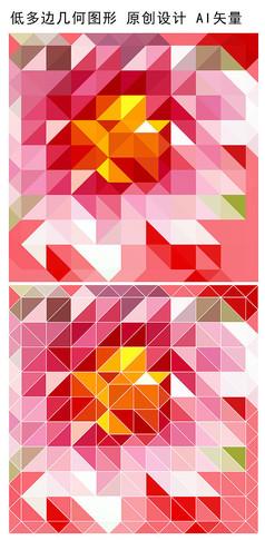 抽象立体花卉图案