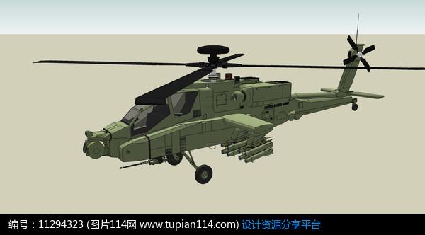 双侧螺旋桨直升机图片