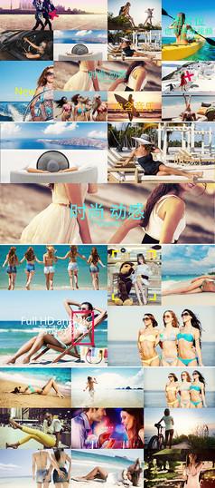 时尚节奏旅游宣传片头AE模板
