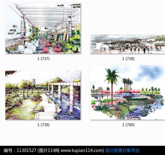 [原创] 居住区设计手绘效果图