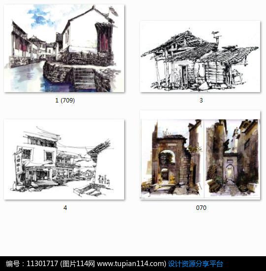[原创] 中式古建筑手绘