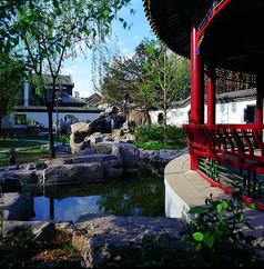 中式水景观意向图