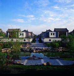 别墅区特色中式景观意向图