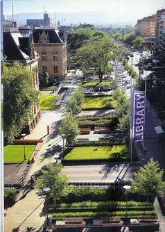 城市广场道路景观意向图