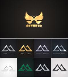 简洁金属质感logo片头ae模板