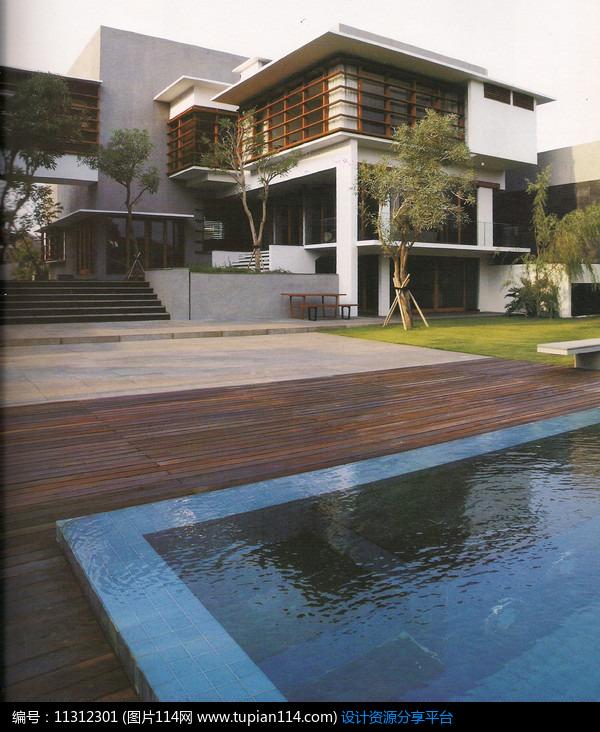 [原创] 别墅院子游泳池景观