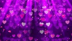 浪漫粒子爱心舞台背景视频