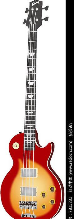 乐器吉他ai矢量图