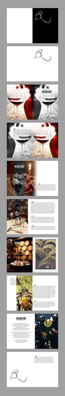 葡萄酒红酒产品宣传画册设计