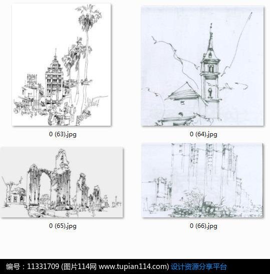 [原创] 欧式小镇建筑景观手绘透视图