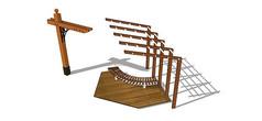 现代景观廊架模型