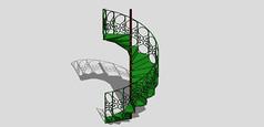 绿色铁艺楼梯