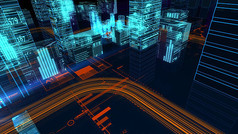 数字城市片头视频素材