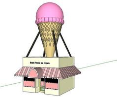 冰淇淋可爱店铺