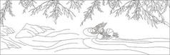 手绘柳叶封面设计设计素材免费下载_画册设计psd_图片图片