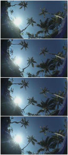 水下天空实拍景色实拍素材