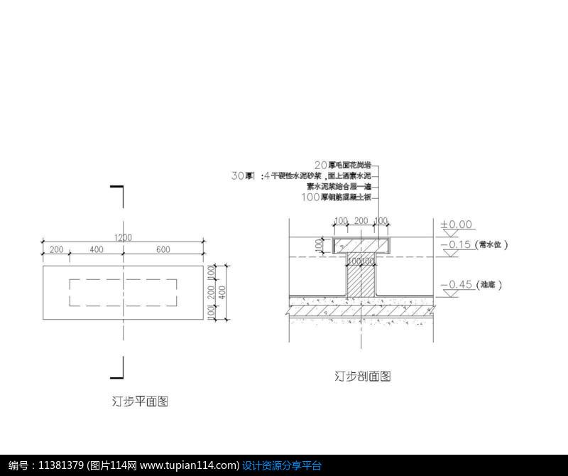 [原创] 汀步平面图