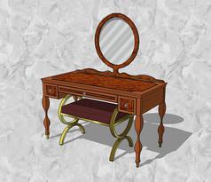 木制梳妆台