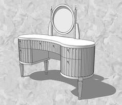 欧式洗手间梳妆台