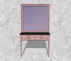 粉色梳妆台