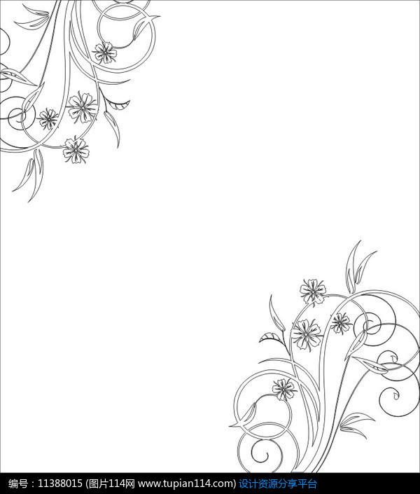 简笔图案设计花