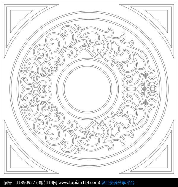 [原创] 圆环花纹雕刻图案