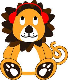 可爱卡通小狮子图案