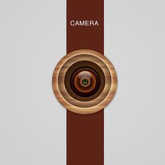 木质纹理镜头图标