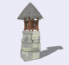 石砌观景台