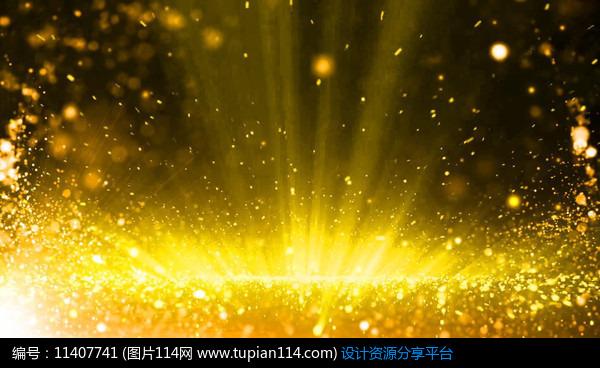 好看的视频背景_[原创] 大气珠帘金色光芒背景视频
