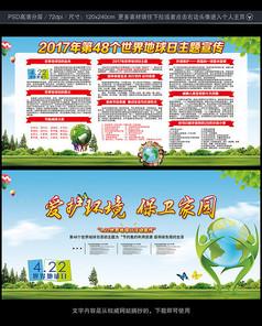 2017世界地球日宣传栏