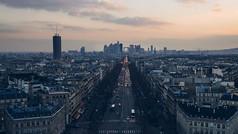 法国巴黎城市风景2K视频