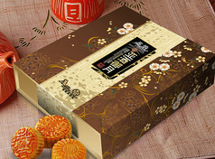 中秋月饼包装展开图