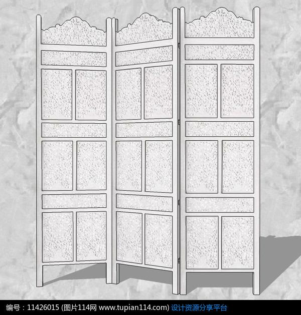 相关素材 室内摆件屏风简欧风格su模型su素材草图大师模型室内设计图片