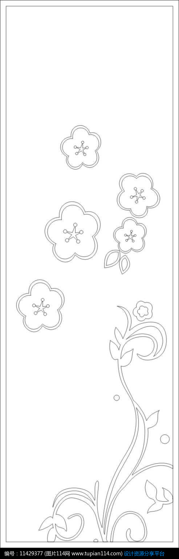 小花雕刻图案设计素材免费下载_雕刻图案cdr_图片114