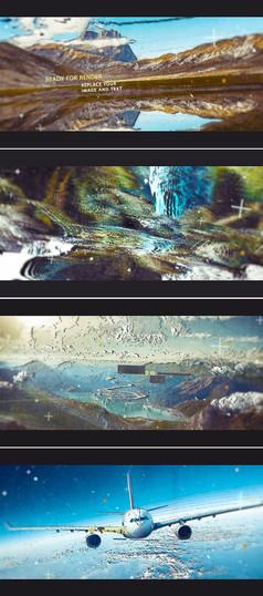三维空间感城市风景宣传展示ae模板