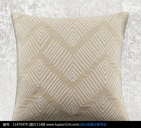 [原创] 直线组成波浪线条抱枕图片