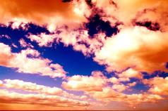火烧云天空景观