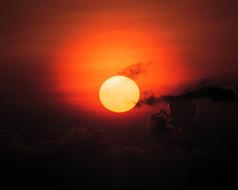 落日余晖天空景观
