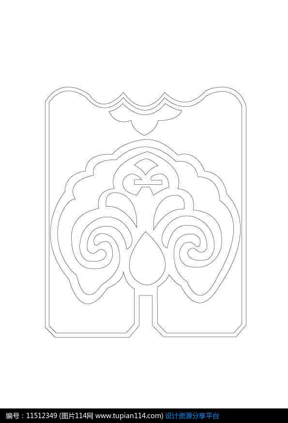扇形吉祥雕刻纹样设计素材免费下载_雕刻图案ai_图片
