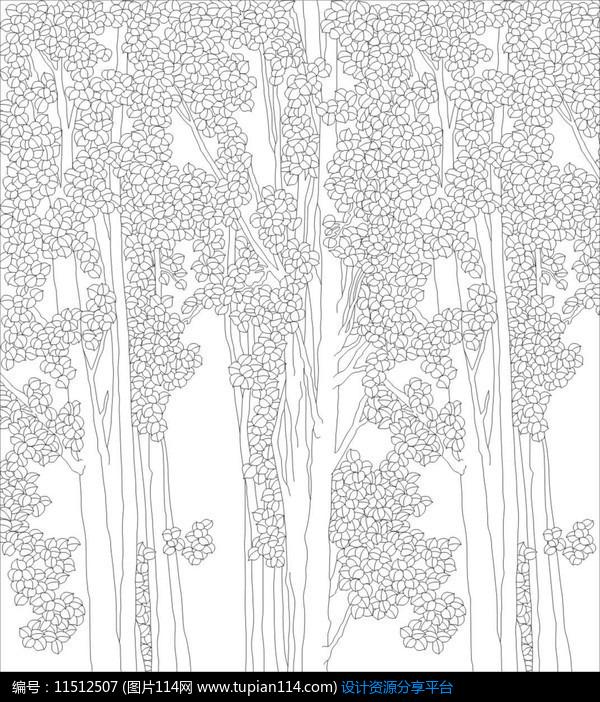 金钱树雕刻图案设计素材免费下载_雕刻图案cdr_图片114
