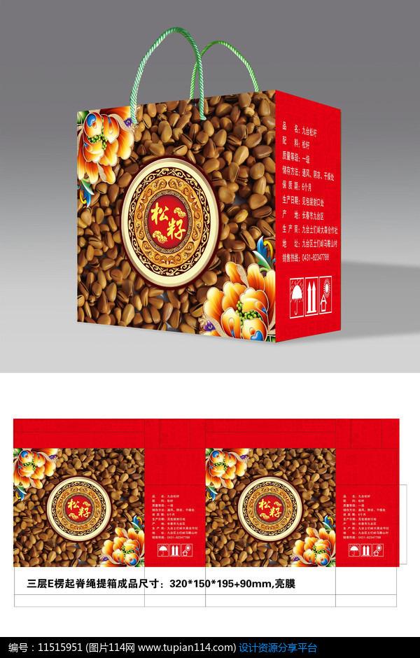 松籽土特产包装礼盒设计素材免费下载_包装设计ai