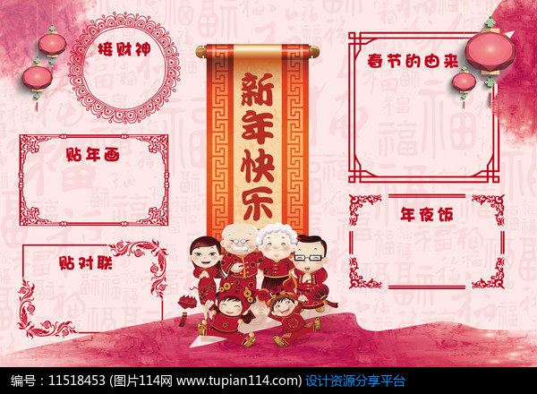 [原创] 全家福春节小报图片