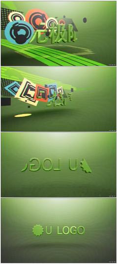 多彩复古音乐片头logo动画