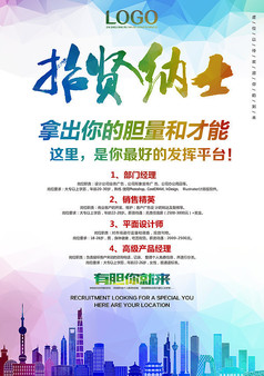 企业公司招聘招贤纳士创意海报