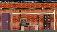 砖墙房间舞台背景
