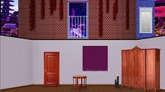 罗密欧于朱丽叶砖房欧式房间
