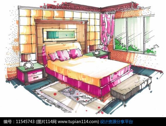 [原创] 室内卧室手绘图