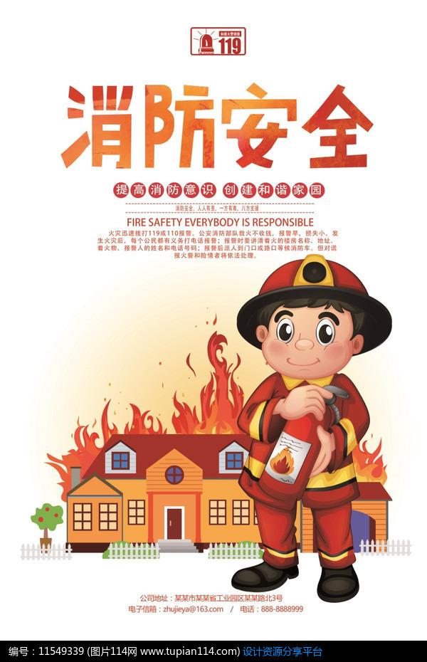 [原创] 卡通创意消防安全海报