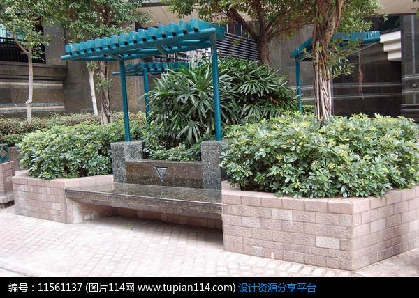 3d素材 方案意向 室外家具 住宅花池坐凳意向     素材编号:11561137